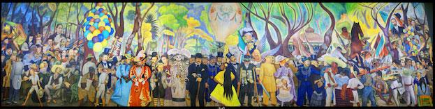 Sueño de una Tarde Dominical en Alameda Central by Diego Rivera