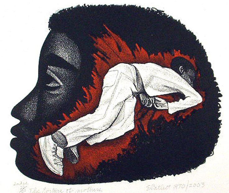 Elizabeth Catlett, The Torture of Mothers, Lithograph, 1970